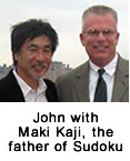John with Maki Kaji, the father of Sudoku
